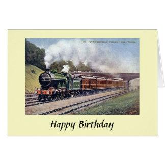 Cartão de aniversário - Scotsman do vôo