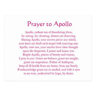 Cartão de Apollo Cartão Postal