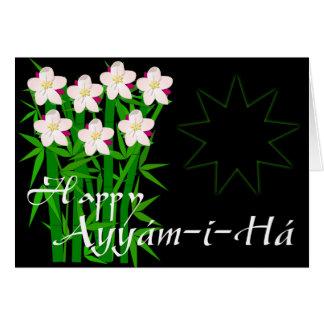 Cartão de Ayyám-i-Há