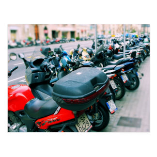 Cartão de Barcelona da fileira dos motociclistas