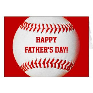 Cartão de basebol feliz do dia dos pais