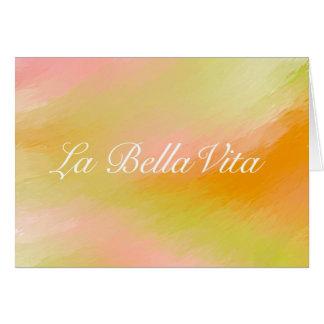 Cartão de Bella Vita do La