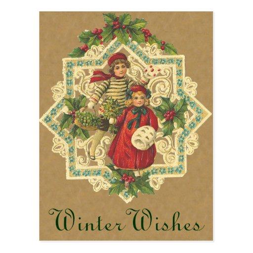 Cartão de Bels de Natal do Victorian Cartão Postal