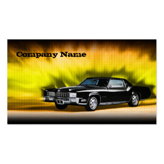 Cartão de carro preto clássico do tema da máfia cartão de visita