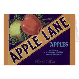 """Cartão De """"cartão da etiqueta da caixa da fruta da pista"""