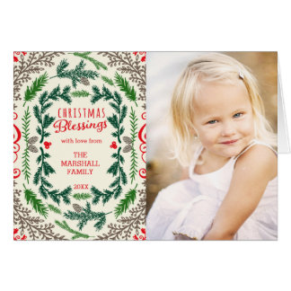 Cartão de cartões de natal da foto das bênçãos do