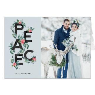 Cartão de cartões de natal das bagas do feriado