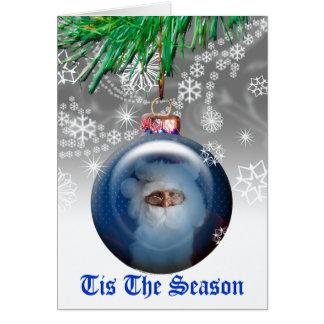 Cartão de cartões de natal do modelo da foto do