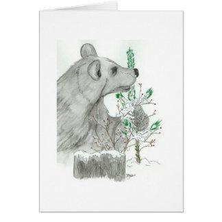 Cartão de cartões de natal do Natal do urso