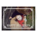 Cartão de cartões de natal dobrado | rústico do qu