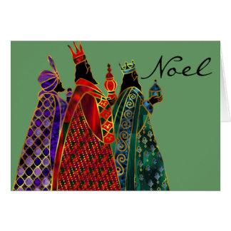 Cartão de cartões de natal dos homens sábios