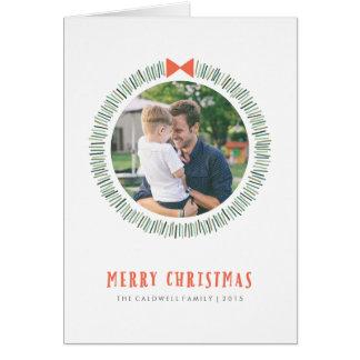 Cartão de cartões de natal simples da grinalda