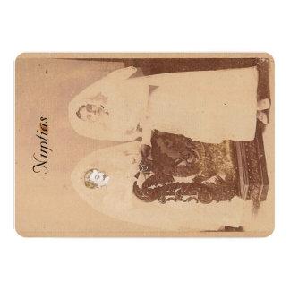Cartão de casamento convite 12.7 x 17.78cm
