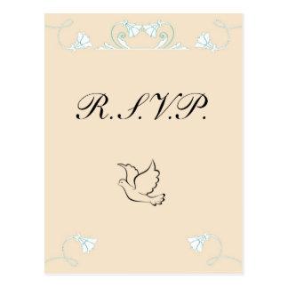 Cartão de casamento de RSVP