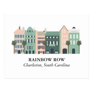 Cartão de Charleston South Carolina da fileira do