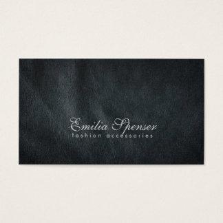 Cartão de couro cinzento escuro liso simples da