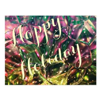 Cartão de cristal coloridos Feriado-Brilhantes