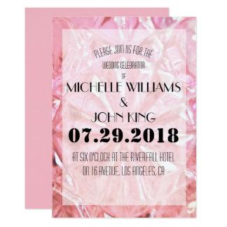 Cartão de cristal cor-de-rosa elegante do convite