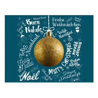 Cartão de cumprimentos do Feliz Natal do mundo no