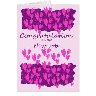 Cartão de cumprimentos - parabéns no trabalho novo