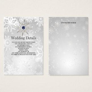 Cartão De Visitas cartão de detalhes de prata do casamento no