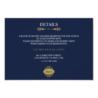 Cartão de detalhes elegante clássico do casamento