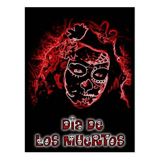 Cartão de Diâmetro De Los Muertos Cartoes Postais