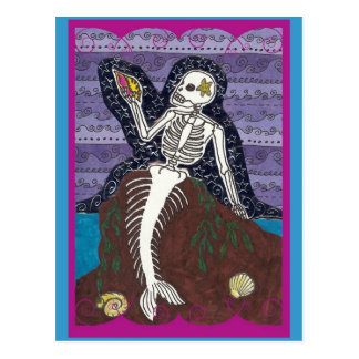 Cartão de Diâmetro de Los Muertos Sereia Cartão Postal