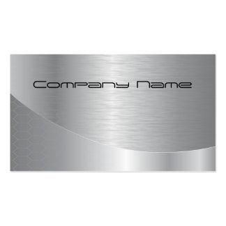 Cartão de empresa de prata elegante cartão de visita