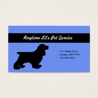 Cartão de empresa de serviços azul do animal de