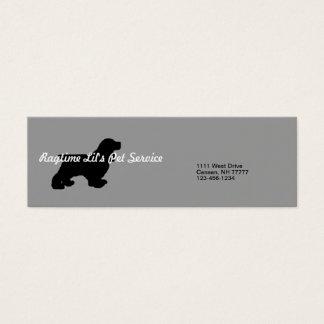 Cartão de empresa de serviços cinzento do animal