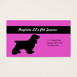 Cartão de empresa de serviços cor-de-rosa do