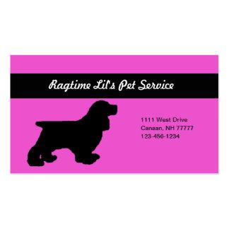 Cartão de empresa de serviços cor-de-rosa do cartão de visita
