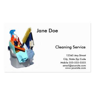 Cartão de empresa de serviços da limpeza modelos cartões de visita