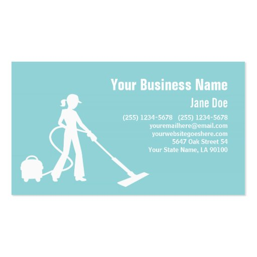 Cartão de empresa de serviços da limpeza modelo cartoes de visitas