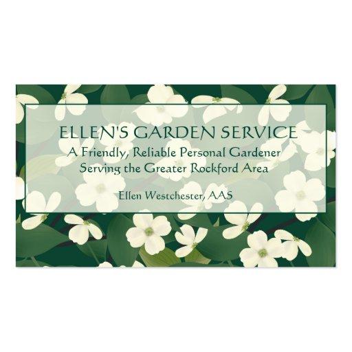 Cartão de empresa de serviços de jardinagem cartão de visita