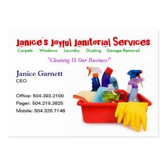 Cartão de empresa de serviços de limpeza cartão de visita grande