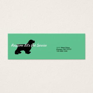 Cartão de empresa de serviços do animal de