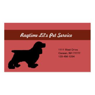 Cartão de empresa de serviços do animal de estimaç modelos cartoes de visitas