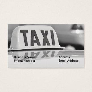 Cartão de empresa de serviços do motorista de táxi