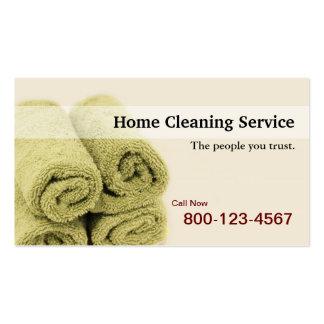 Cartão de empresa de serviços Home da limpeza Cartão De Visita