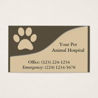 Cartão de empresa de serviços veterinário do