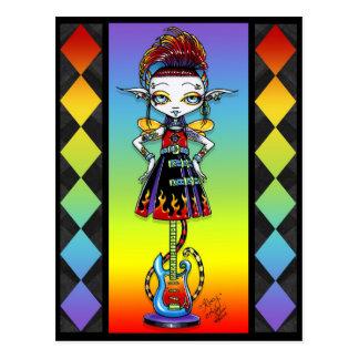 Cartão de Fae do arco-íris de Psychobilly da vara