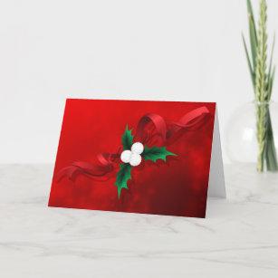 Cartão De Festividades Natal do azevinho do voleibol 6a098d645e5fe
