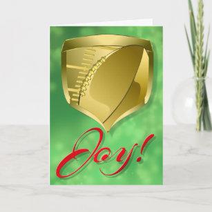 Cartão De Festividades Protetor Dourado do futebol com alegria da palavra 8d1c542c3fdbb