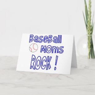 Cartão De Festividades Rocha das mães do basebol! (azul) 37267610f8d74