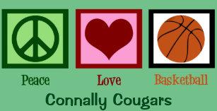 Cartão De Festividades Verde do costume do basquetebol do amor da paz c205e2ea7bd05