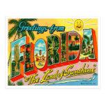 Cartão de Florida do vintage Cartoes Postais