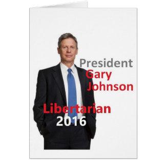 Cartão de Gary JOHNSON 2016