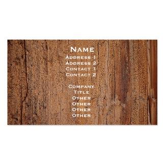 Cartão de imagem do tronco de árvore cartão de visita